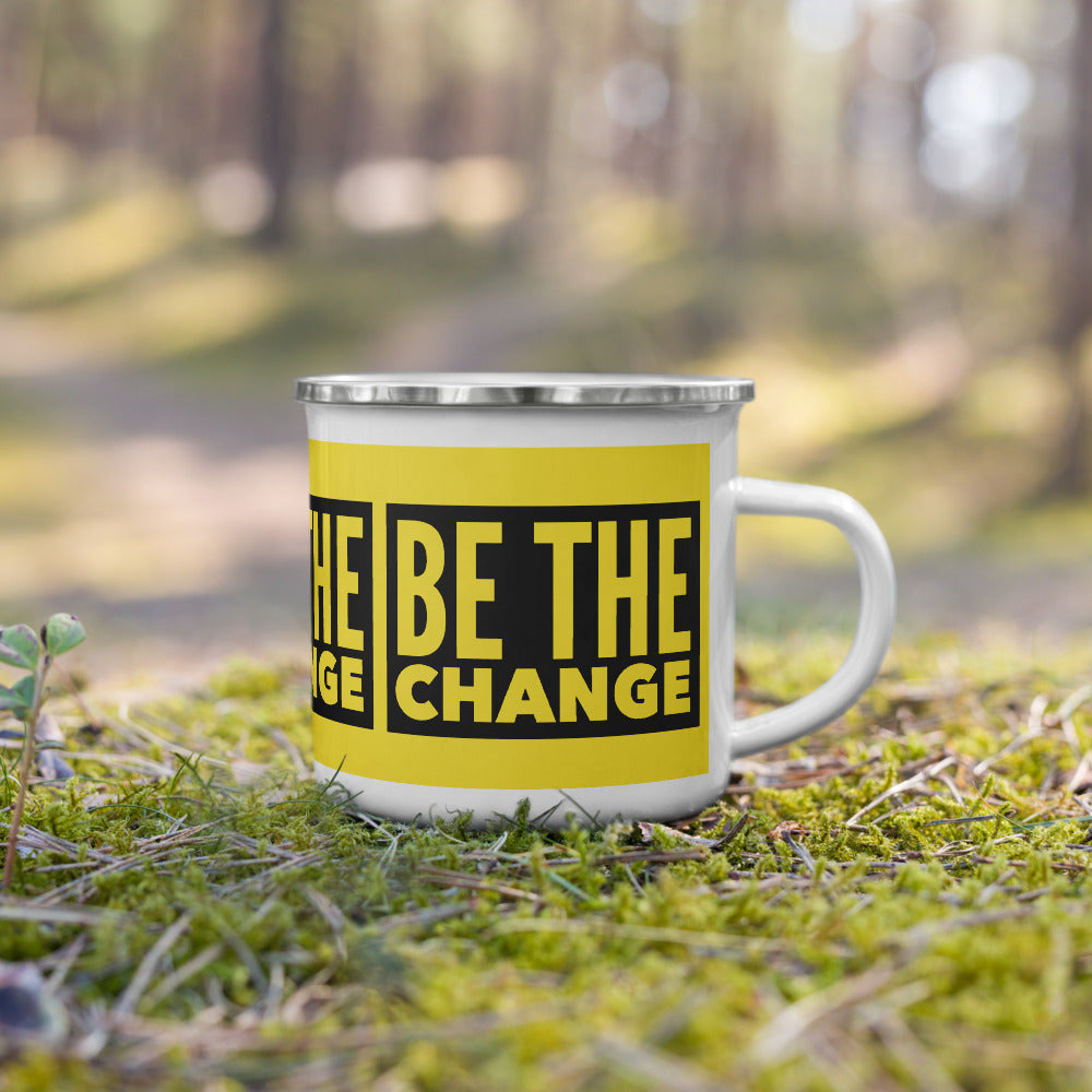 BE THE CHANGE Enamel Mug - Beats 4 Hope