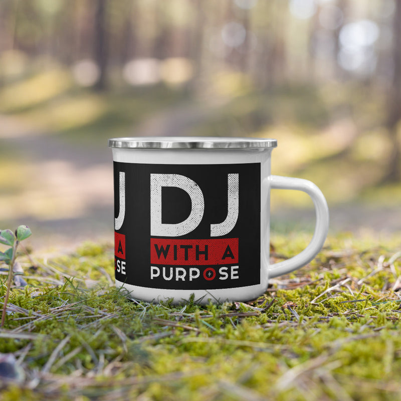 DJ WITH A PURPOSE - Enamel Mug - Beats 4 Hope