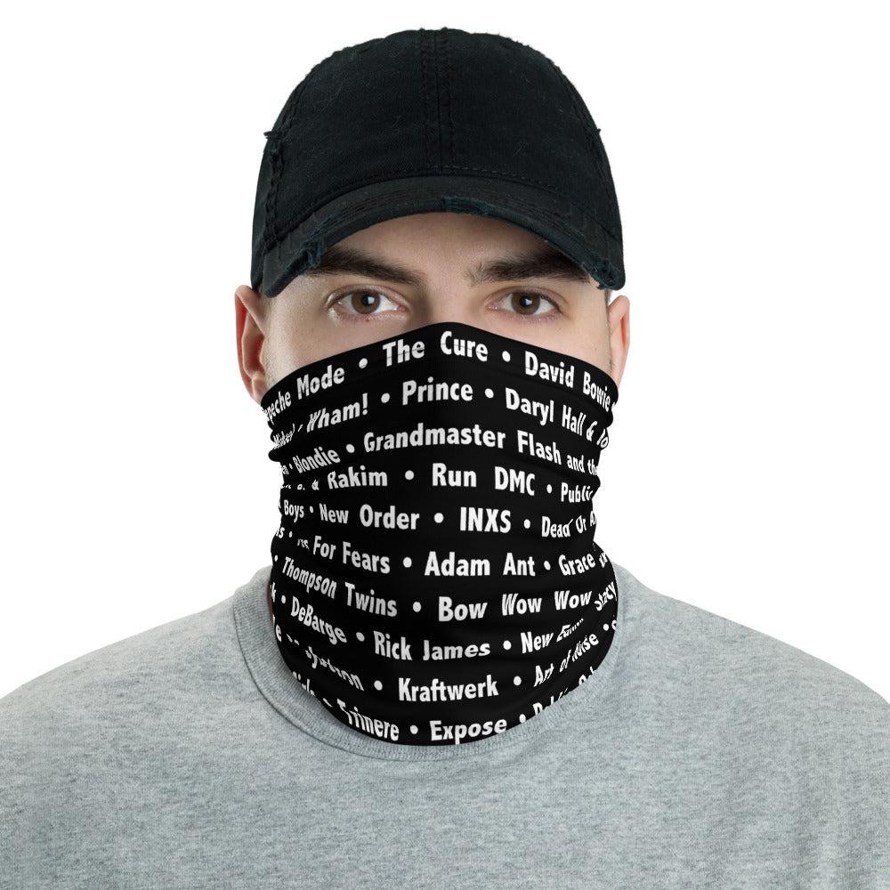 80's Black Neck Gaiter