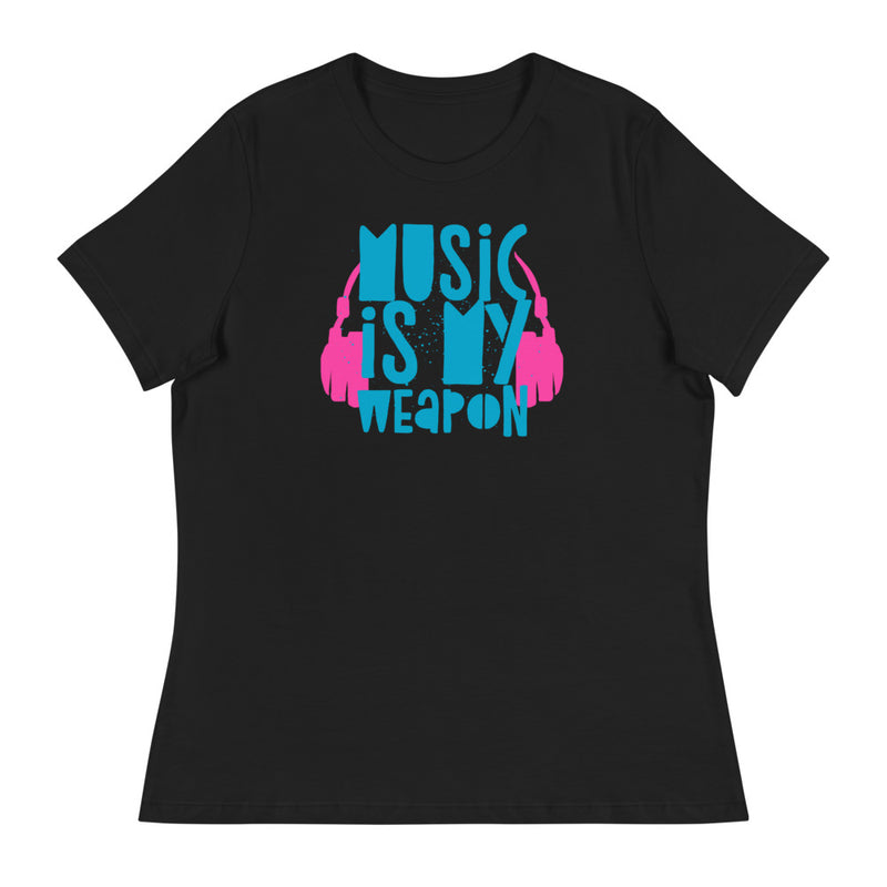 MUSIC IS MY WEAPON - Women's Relaxed T-Shirt - Beats 4 Hope