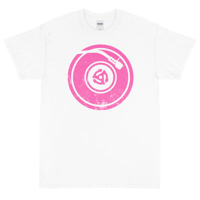 PINK TURNTABLE Men's X T-Shirt - Beats 4 Hope