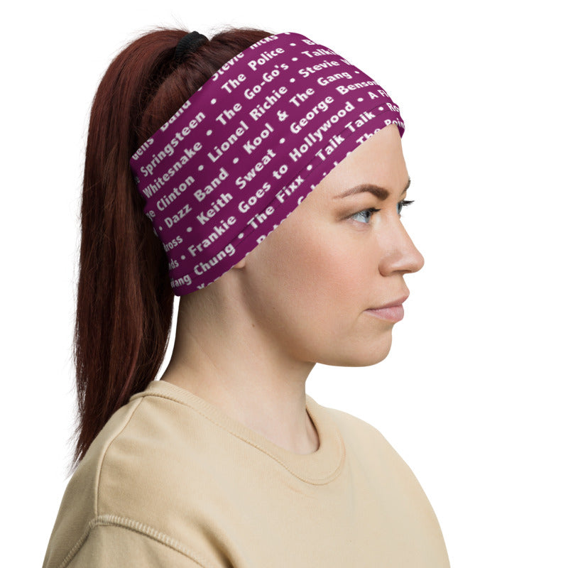 80's Pink Neck Gaiter - Beats 4 Hope