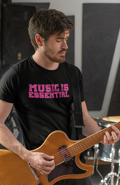 MUSIC IS ESSENTIAL PINK Men's X T-Shirt LIMITED EDITION - Beats 4 Hope