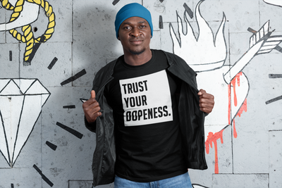 TRUST YOUR DOPENESS Men's X T-Shirt - Beats 4 Hope