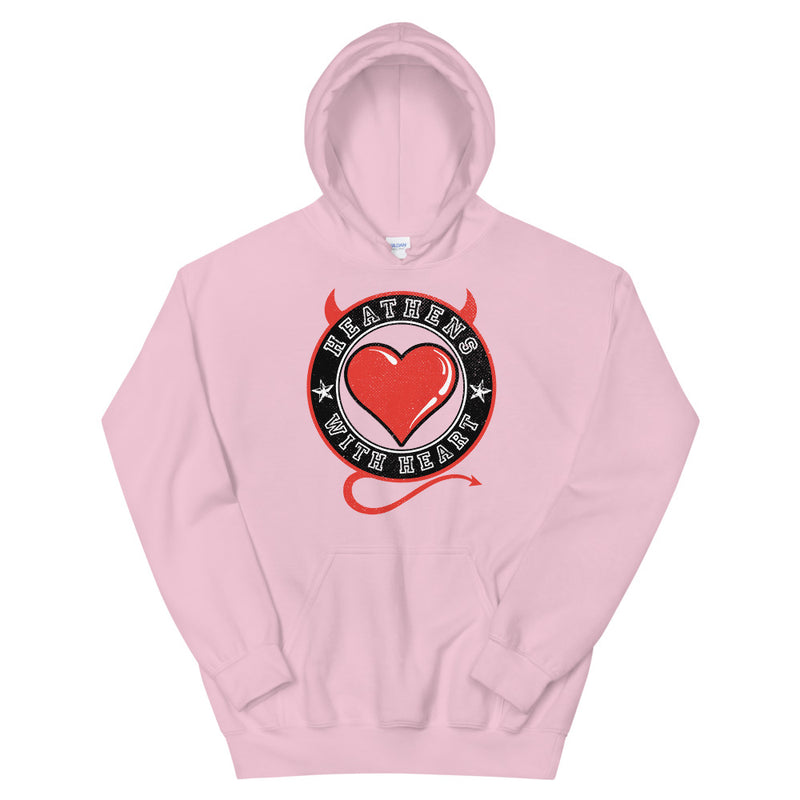 HEATHENS WITH HEART - Unisex Hoodie