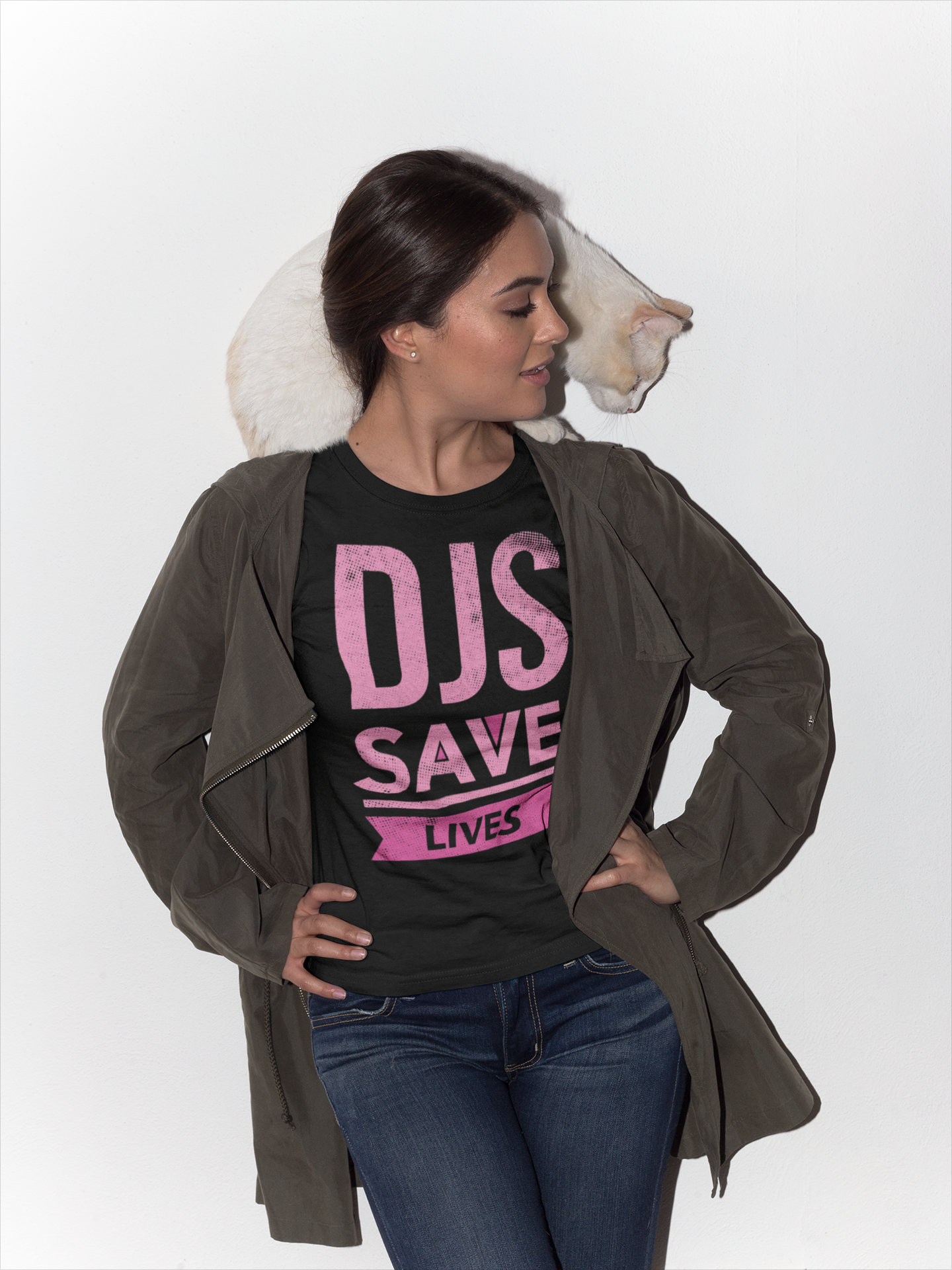 DJS SAVE LIVES PINK Women's T-Shirt LIMITED EDITION