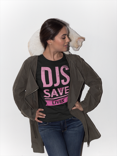 DJS SAVE LIVES PINK Women's T-Shirt LIMITED EDITION - Beats 4 Hope