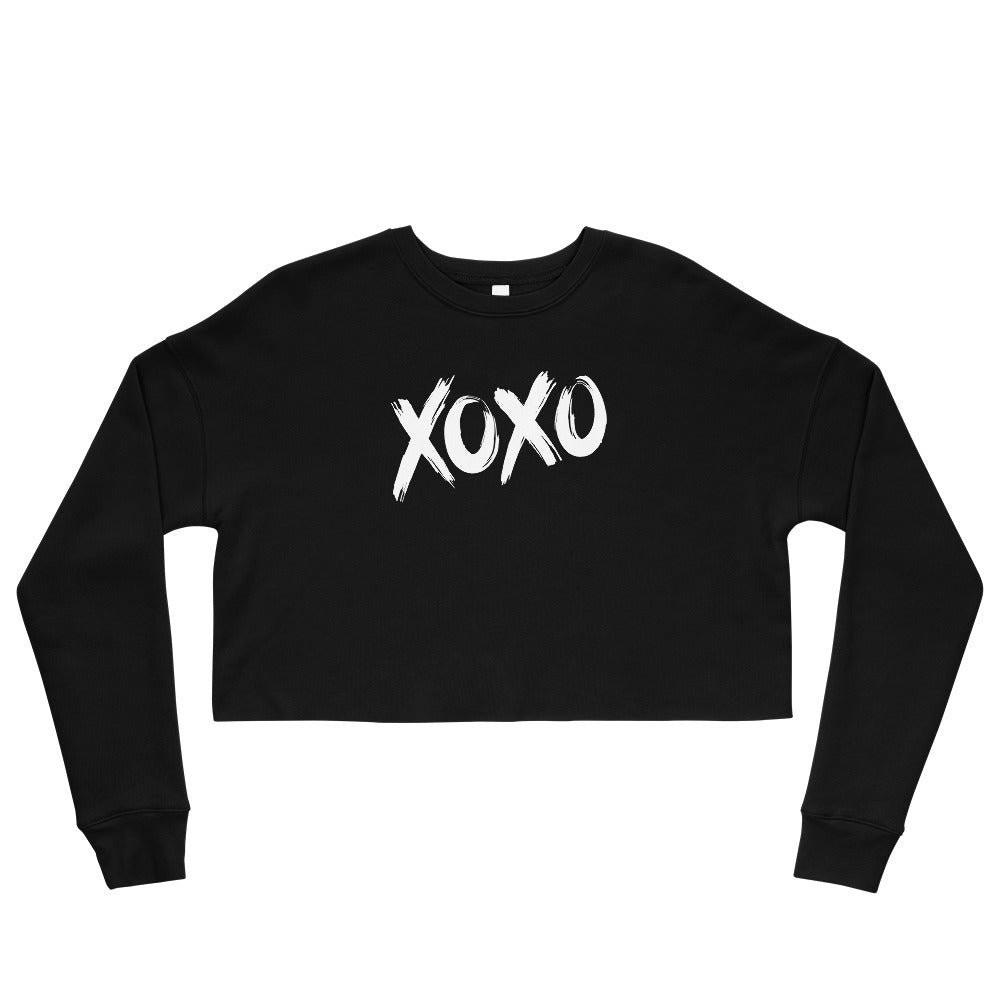 HUGS and KISSES Crop Sweatshirt