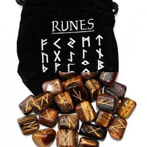 Tigers Eye Runes Set