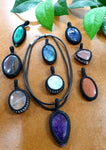 Thread pendants & Necklace Pack 10pc