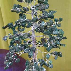Green Aventurine Tree - Medium Silver