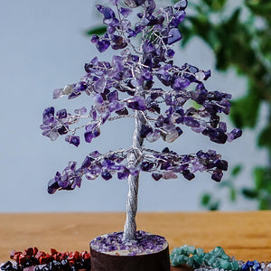 Amethyst Tree - Medium Silver
