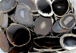 Agate Slice Black Medium 1pc