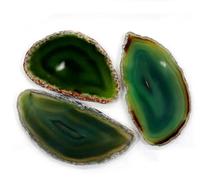 Agate Slice Green Medium 1pc