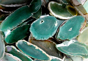 Agate Slice Green Small