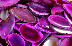 Agate Slice Pink Mini