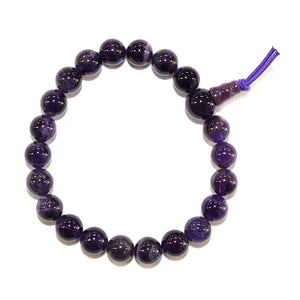 Amethyst Power Bead Bracelet 8mm