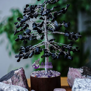 Black Onyx Tree -  Small Silver