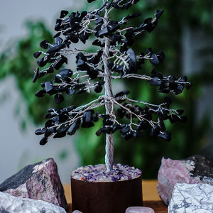 Black Onyx Tree - Medium Silver