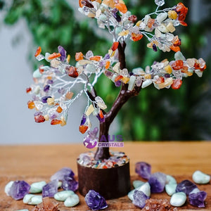 Mixed Crystals Tree - Large Brown