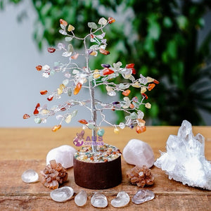 Mixed Crystal Tree - Small Silver