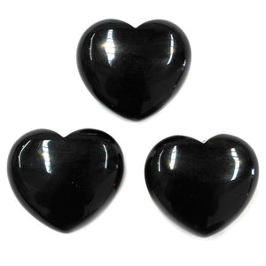 Black Obsidian Heart 1pc