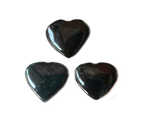 Bloodstone Heart 1pc