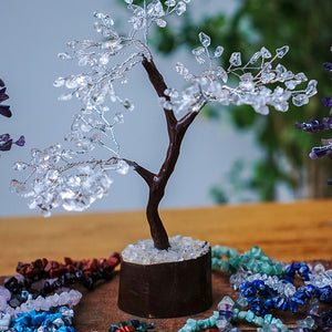 Clear Quartz Tree - Medium Brown