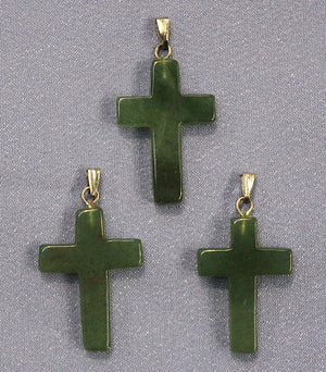 Cross Green Aventurine Pendant 1pc