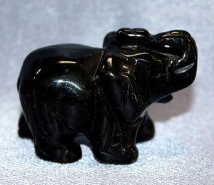 Medium Black Onyx Elephant