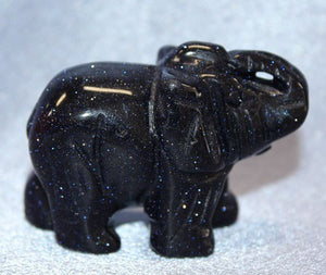 Medium Blue Sandstone Elephant