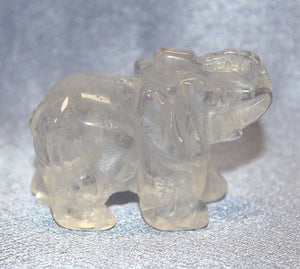 Medium Clear Quartz Elephant