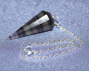 Fluorite Faceted Pendulum