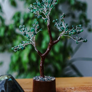 Green Aventurine Tree - Medium Brown