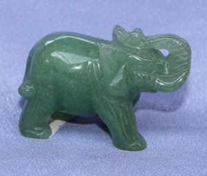 Medium Green Aventurine Elephant