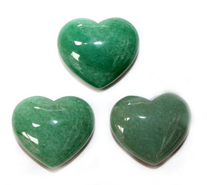Green Aventurine Heart 1pc