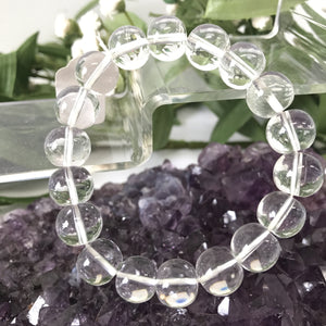 Clear Quartz Round Bead bracelet 10mm