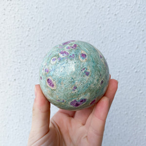 Ruby in Fuchsite Sphere- 1pc