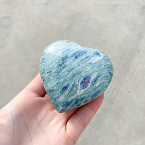 Ruby Fuchsite Heart 1pc