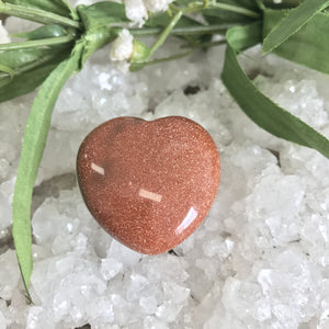 Gold Sandstone Heart Small