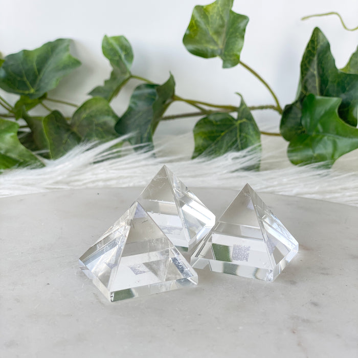 Clear Quartz Pyramid Small- 1pc