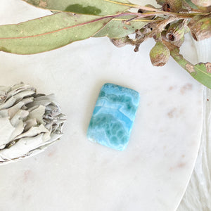 Larimar Rectangle Cabochon 1