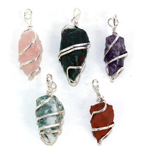 Assorted Spiral Pendant - 5pc