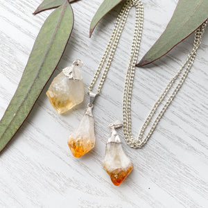 Citrine Crystal Pendant 1pc