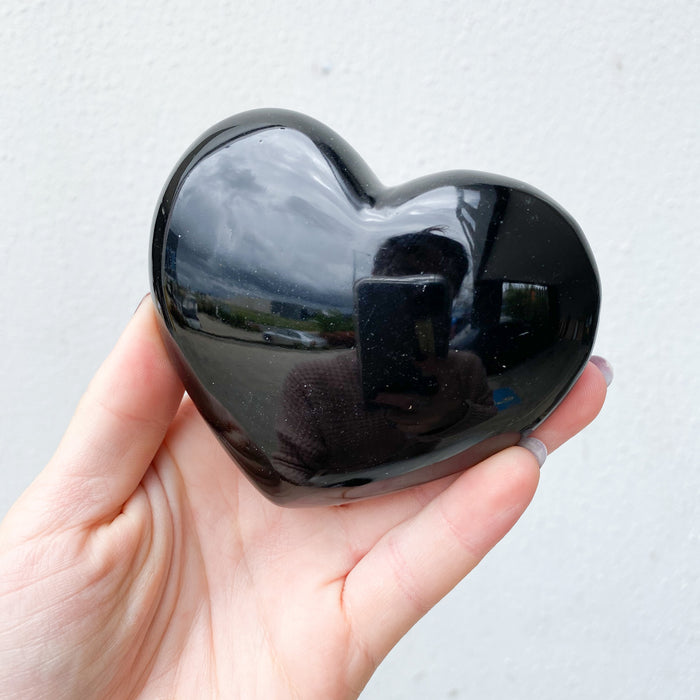 Silver Sheen Obsidian Heart $180- 1pc