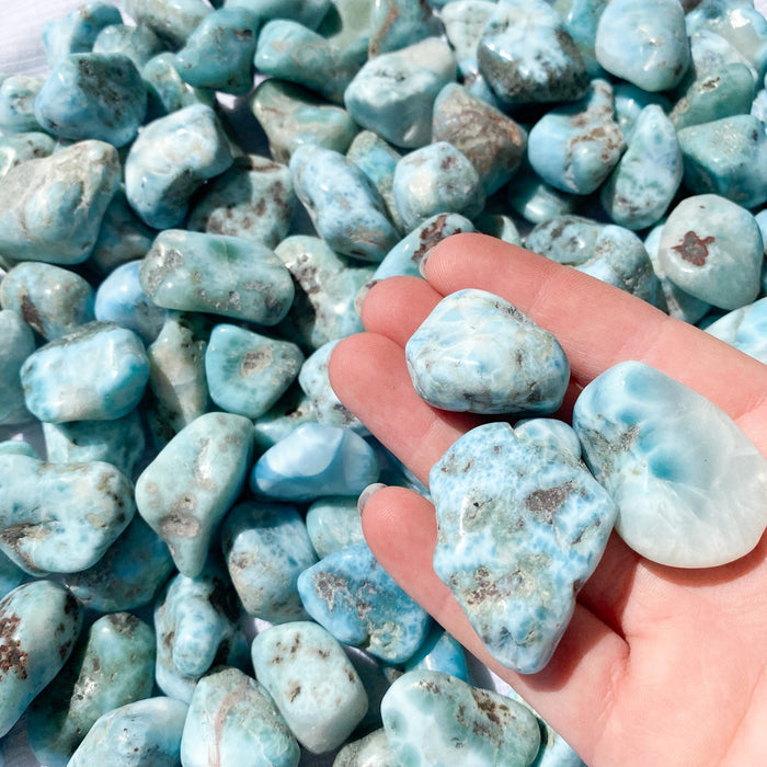 Larimar Tumbled Stone 1pc