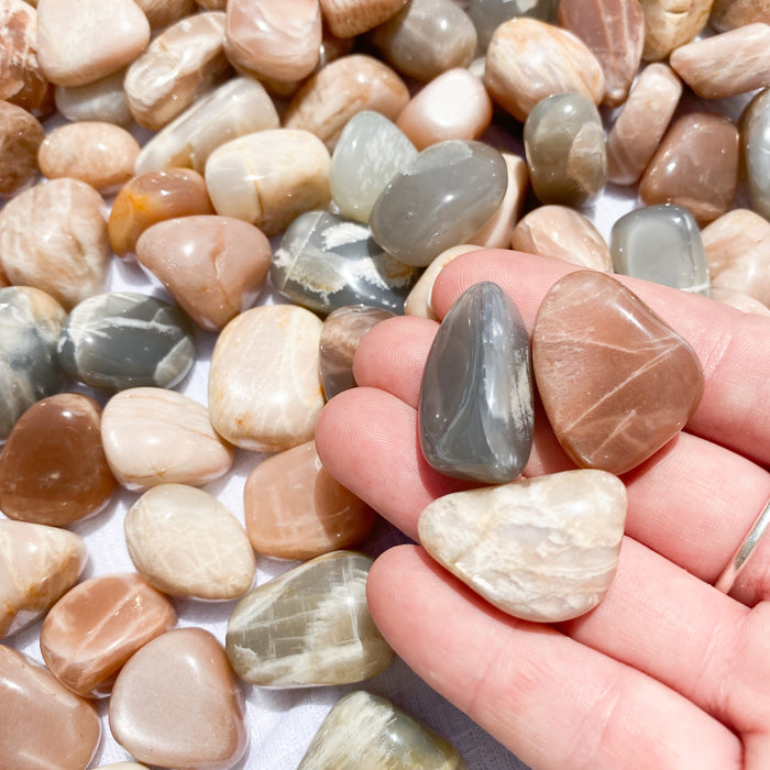 Peach Moonstone Tumbled Stones