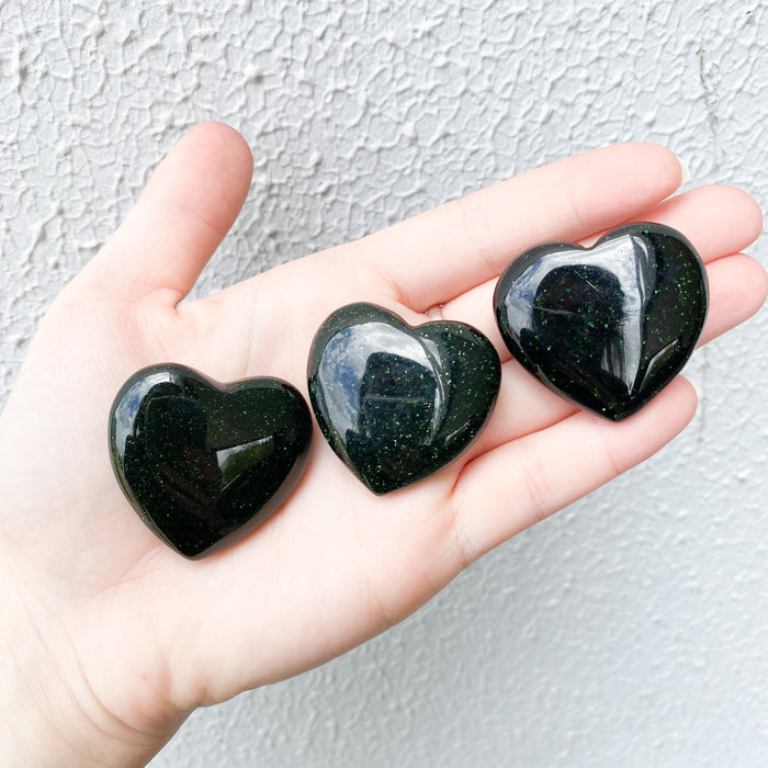 Green Sandstone Heart 1pc