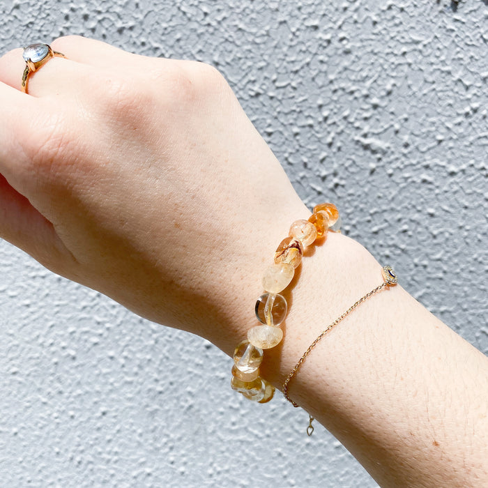 Citrine Freeform Bead Bracelet- 1pc