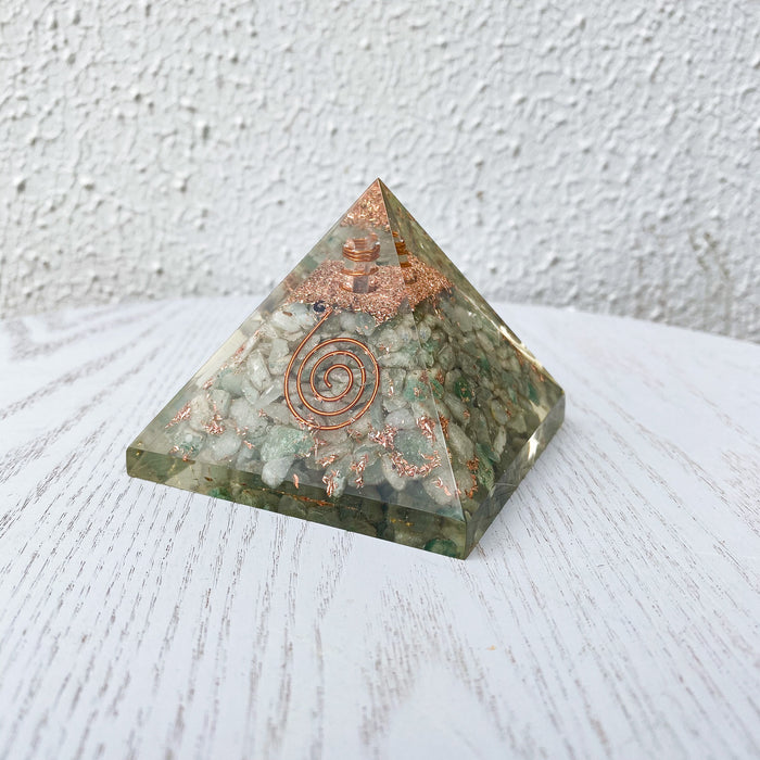 Orgonite Pyramid -Green Aventurine